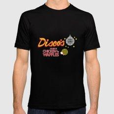 Disco's Chicken n' Waffles Mens Fitted Tee Black MEDIUM