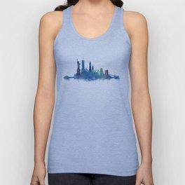 NY New York City Skyline NYC Watercolor art Unisex Tank Top