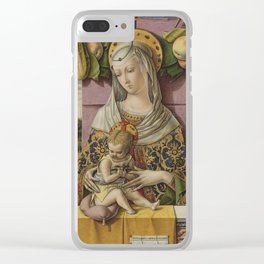 Carlo Crivelli - Madonna And Child Clear iPhone Case
