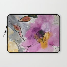 Softly Blushing Pink Abstract Floral Laptop Sleeve