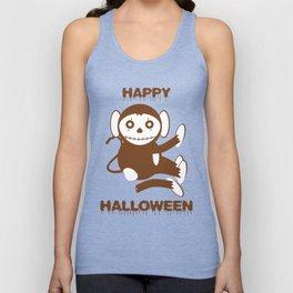 Dead Monkey Happy Halloween Unisex Tank Top