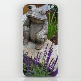 Wooden Frog iPhone Skin
