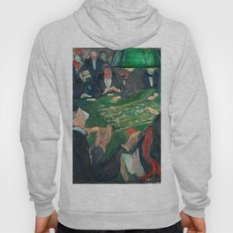 At the Roulette Table in Monte Carlo by Edvard Munch Hoody