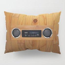 wall retro radio Pillow Sham