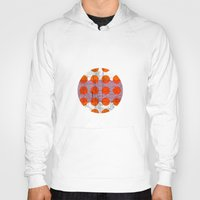 orange pattern Hoodies featuring Orange by FergusT