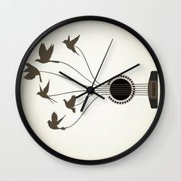 Bird a guitar Wall Clock