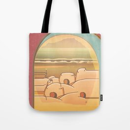 Beached Labyrinth Tote Bag