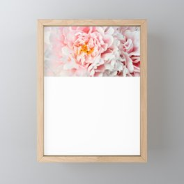 Peony Flower Photography, Pink Peony Floral Art Print Nursery Decor A happy life - Peonies 2 Framed Mini Art Print