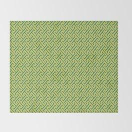 Green Ko-Ji Tsunagi Japanese Kimono Pattern Throw Blanket