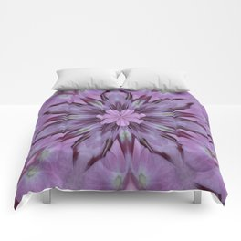 Floral Abstract Of Pink Hydrangea Flowers Comforters