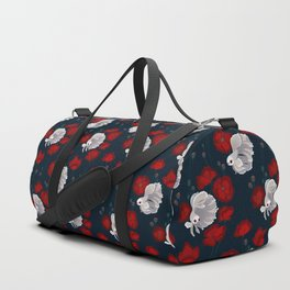 Bettas and Poppies Duffle Bag