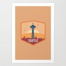 SEATTLE (I LOVE USA SERIES) Art Print