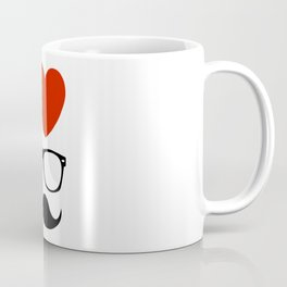 I love glasses and mustaches Coffee Mug