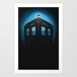 Invisible TARDIS Art Print