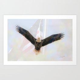 MAKE AMERICA GREAT AGAIN - AMERICAN BALD EAGLE Art Print