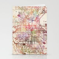 denver Stationery Cards featuring Denver by MapMapMaps.Watercolors