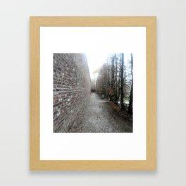 Lined Path Framed Art Print