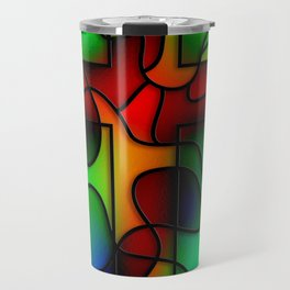Stained Glass Cross Travel Mug