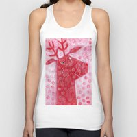 reindeer Tank Tops featuring Reindeer by Nic Squirrell