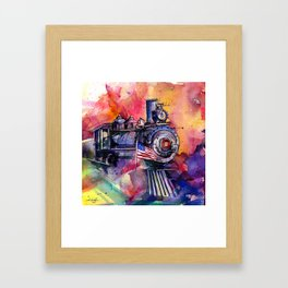 American Train by Kathy Morton Stanion Framed Art Print