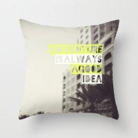 adventure Throw Pillows featuring Adventure by Tina Crespo