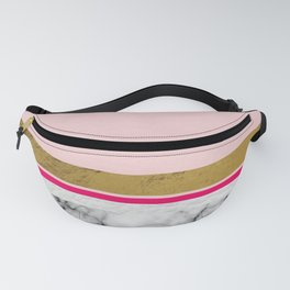 Blush Leather & Marble Fanny Pack