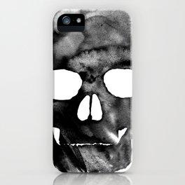 Black skull iPhone Case
