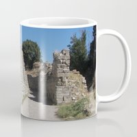 caleb troy Mugs featuring Troy by Malcolm Snook