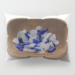 Cobalt and White Sea Glass Pillow Sham