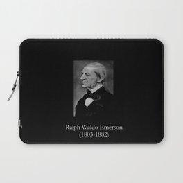 portrait of Ralph Waldo Emerson Laptop Sleeve