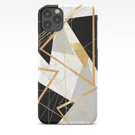 Black and Gold Geometric iPhone Case