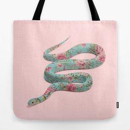 FLORAL SNAKE Tote Bag