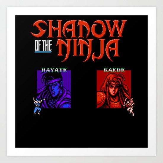 Shadow of the Ninja- Blue Shadow Art Print