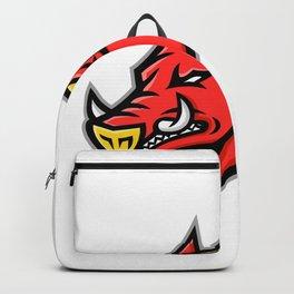 Angry Razorback Mascot Backpack