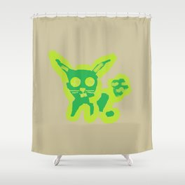 Radioactive Bunny Shower Curtain