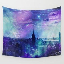 New York Night Wall Tapestry