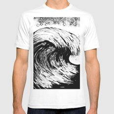 Turmoil White MEDIUM Mens Fitted Tee