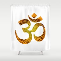 ohm Shower Curtains featuring Ohm by MariquesArt