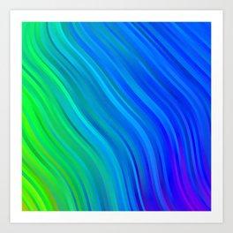 stripes wave pattern 1 stdv Art Print