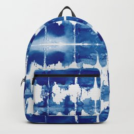 Shibori Tie Dye Indigo Blue Backpack