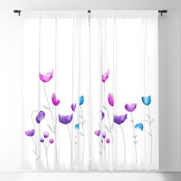 Blooming Fresh Flowers Blackout Curtain