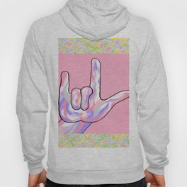 ASL I Love You in PINK Hoody