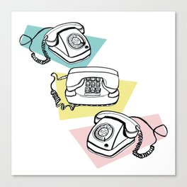 Retro phones Canvas Print