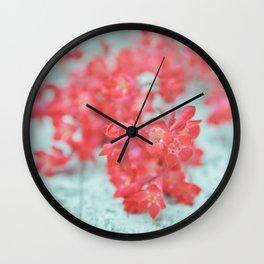 coral blossoms Wall Clock