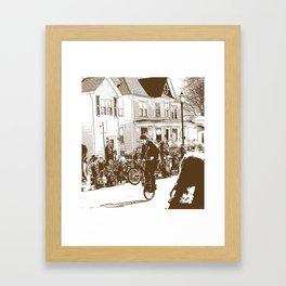 Trick Rider Framed Art Print