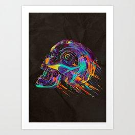 T-800 Skull Art Print