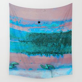 Rusted Middle Mauve and Turquoise Wall Tapestry