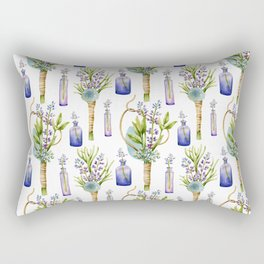 bottles and boutonnieres pattern Rectangular Pillow