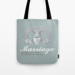 Married in October Tote Bag