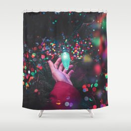 The Christmas Light (Color) Shower Curtain